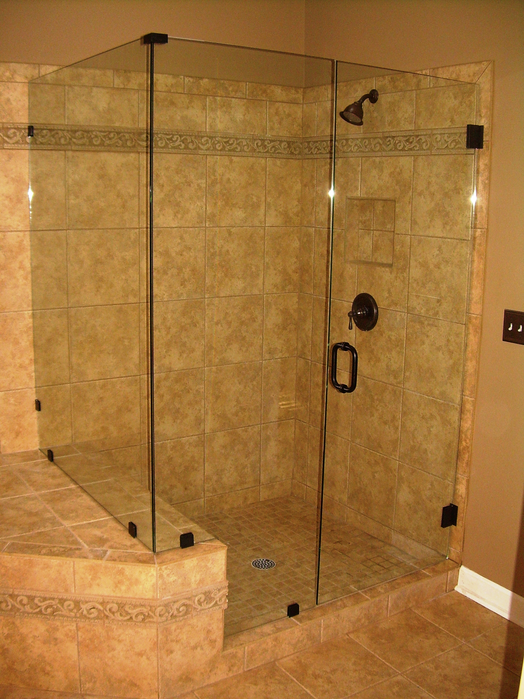 How to clean glass shower doors jenna pope writes for Bathroom ideas without bathtub